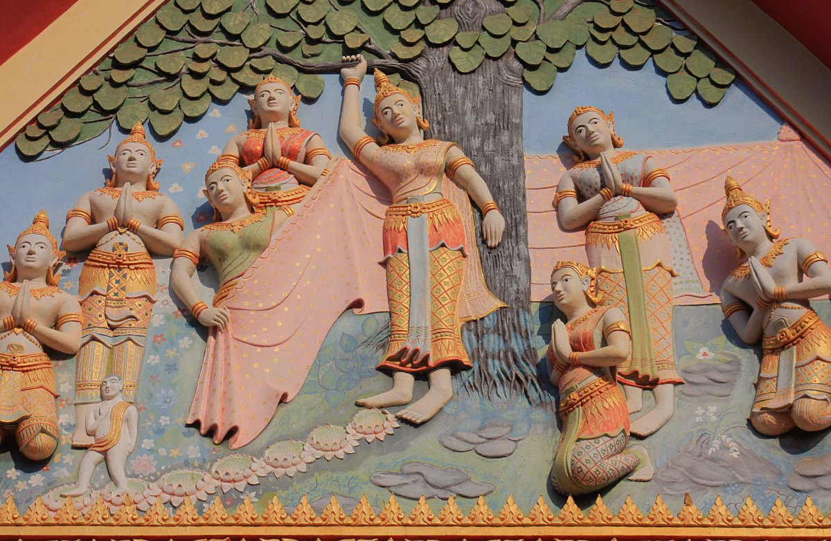 Detail from the Facade of the Buddhist Temple