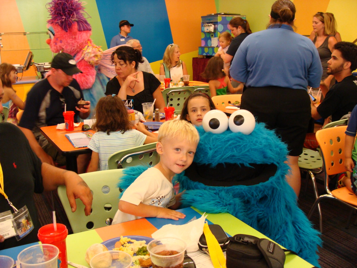 Alex with Cookie Monster.