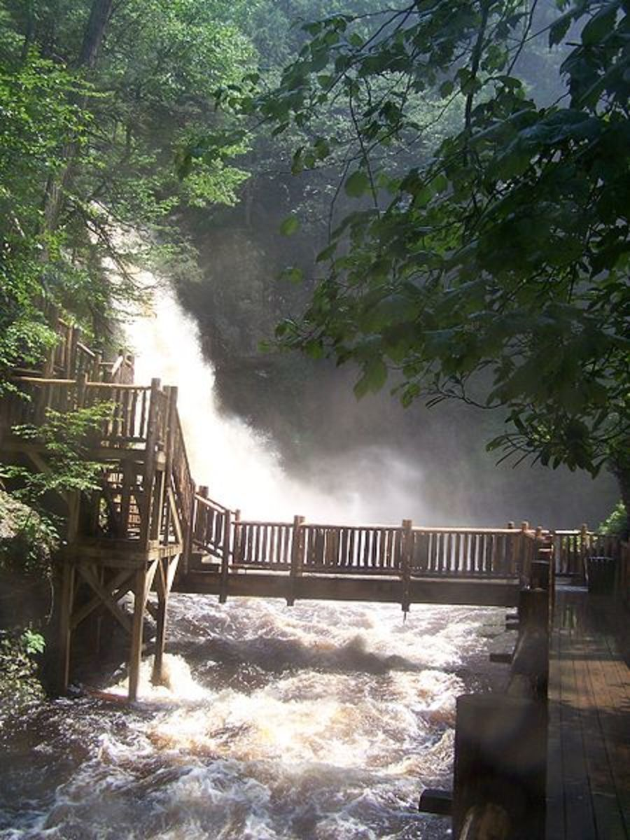 Bushkill Falls in the Poconos.