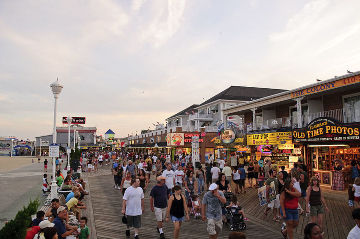 Ocean City, Maryland, boardwalk.
