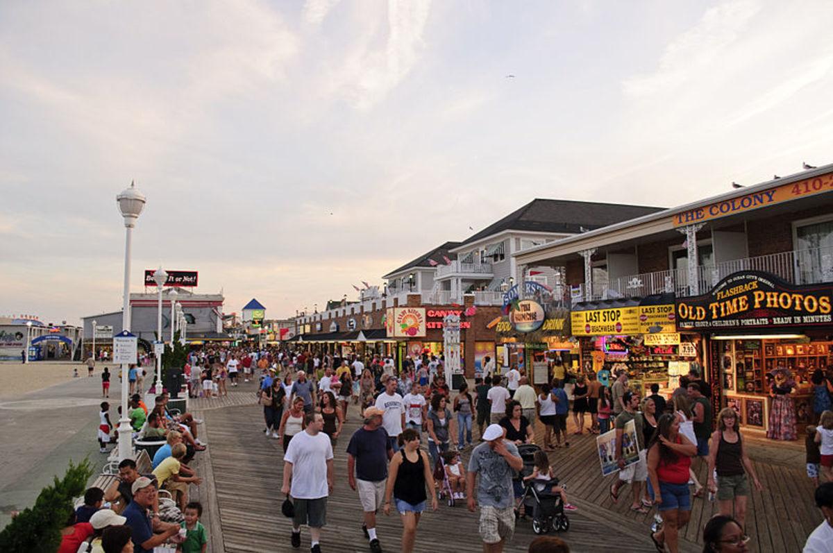 Ocean City, Maryland, boardwalk.