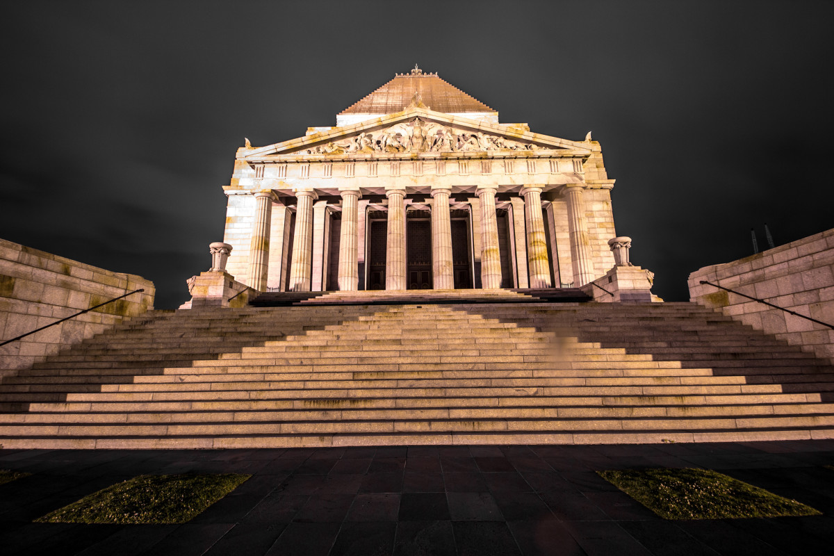 The Shrine of Remembrance was established to honor Australians from Victoria who died in World War I. Today, it is a memorial for Australians who have died in all wars.