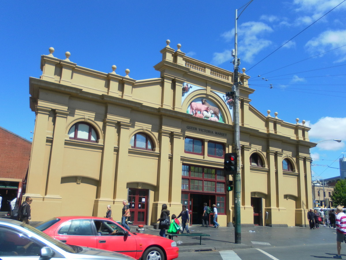 "Queen Victoria Market, also called ""Queen Vic Market."""