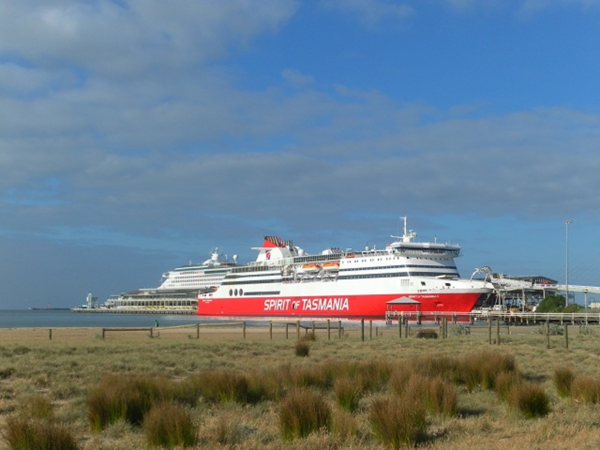 Cruise ships at Port Melbourne.