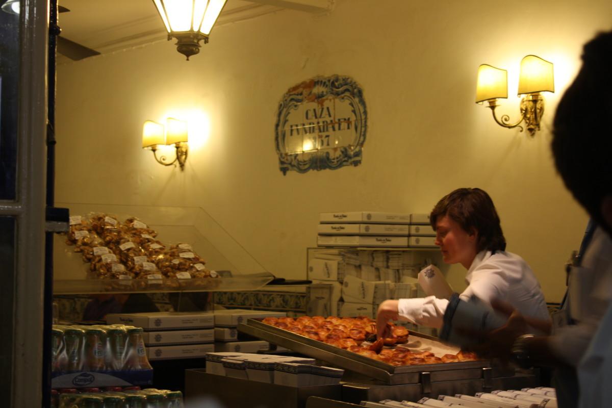 Inside of Pasteis de Belem Cafe