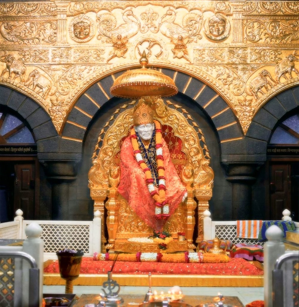 The idol of Sai Baba, Shirdi