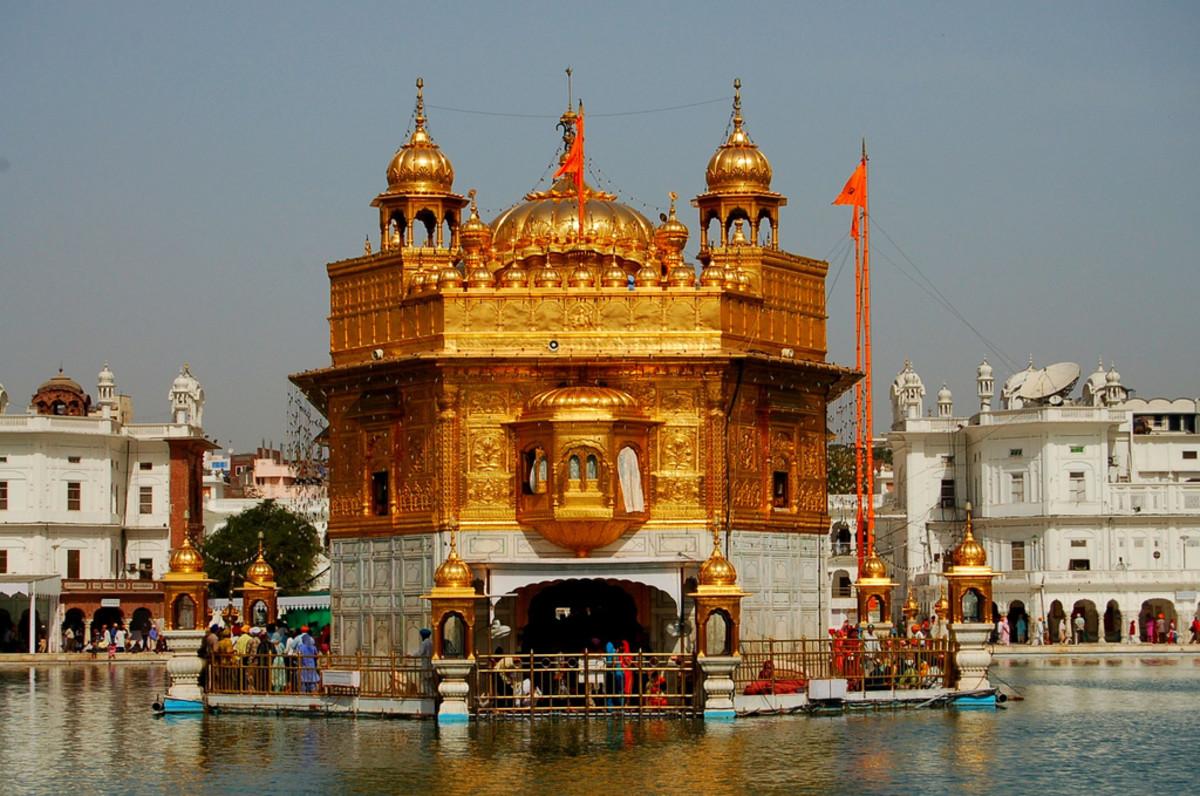 El santuario más sagrado del sijismo se encuentra en la ciudad de Amritsar, India.