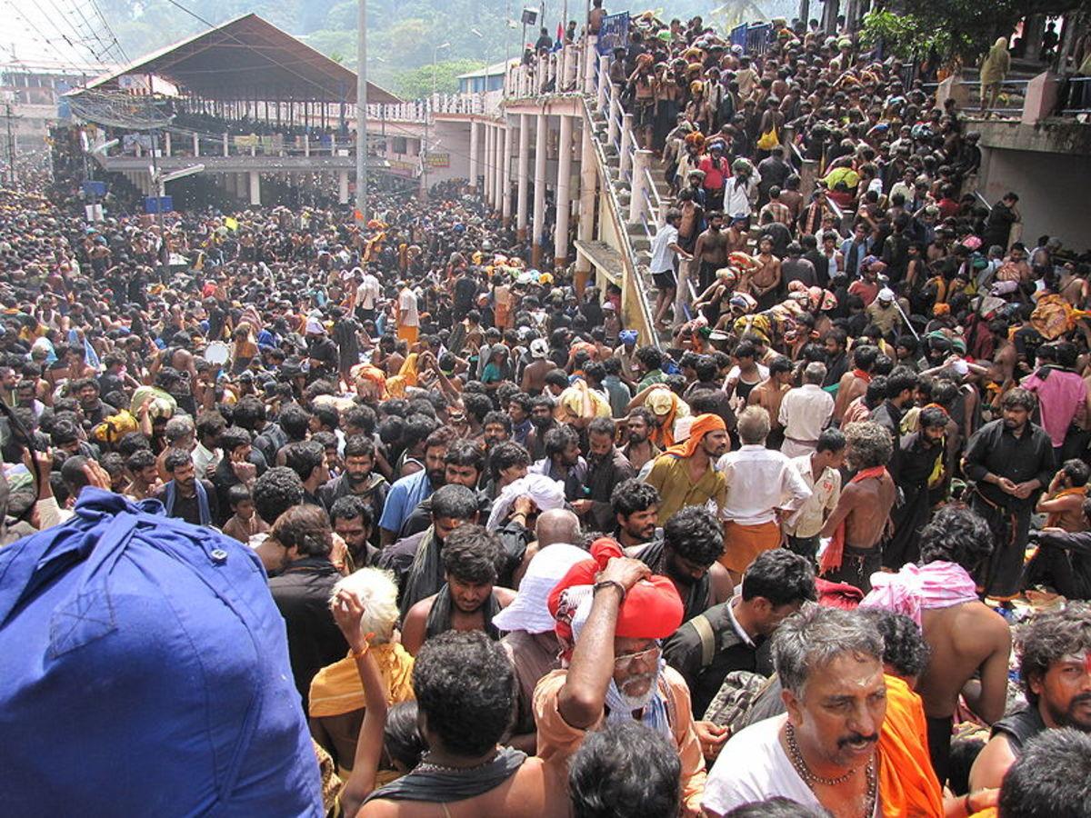 Peregrinos en el festival anual