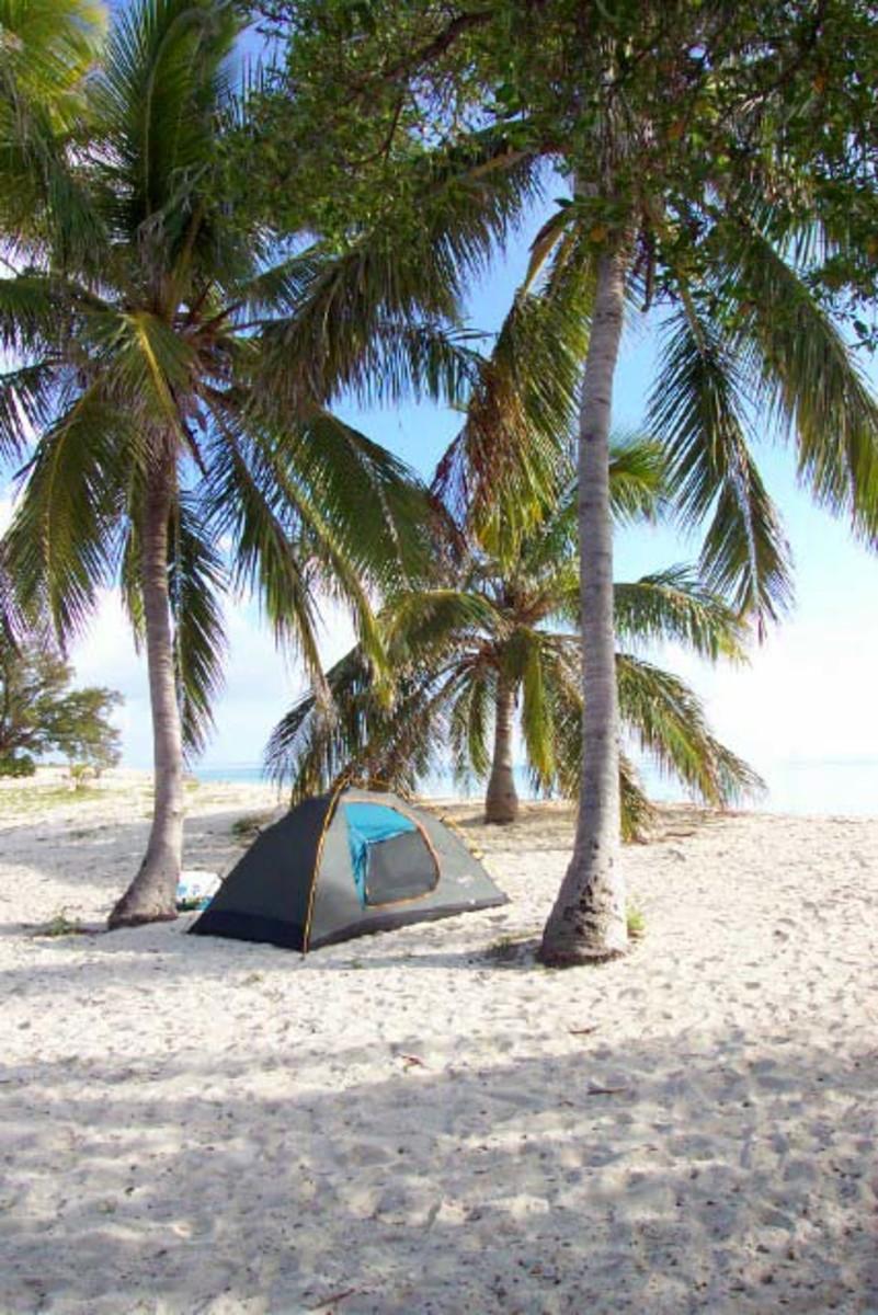 Camping on Garden Key