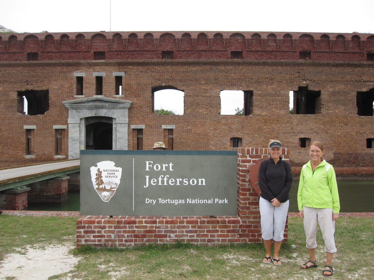 The author (right) and friend at Dry Tortugas in February 2011