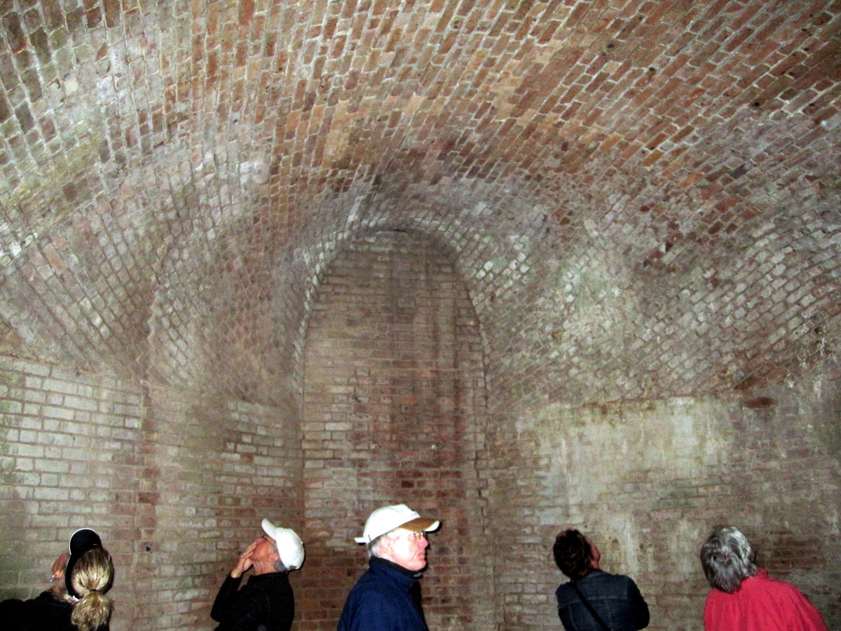 Visitors in awe of the workmanship