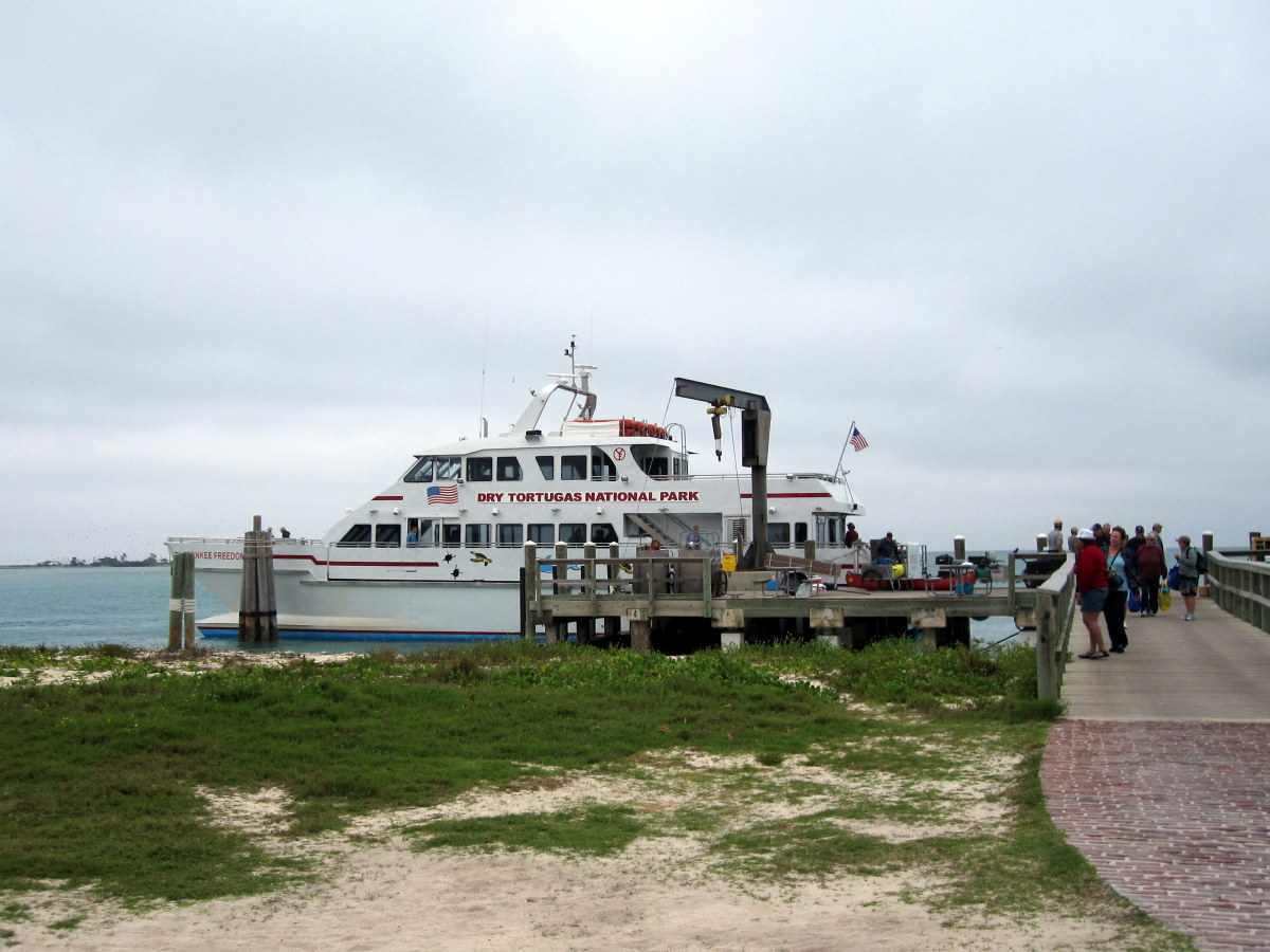 The Yankee Freedom III offers high speed ferry service daily from Key West to Dry Tortugas