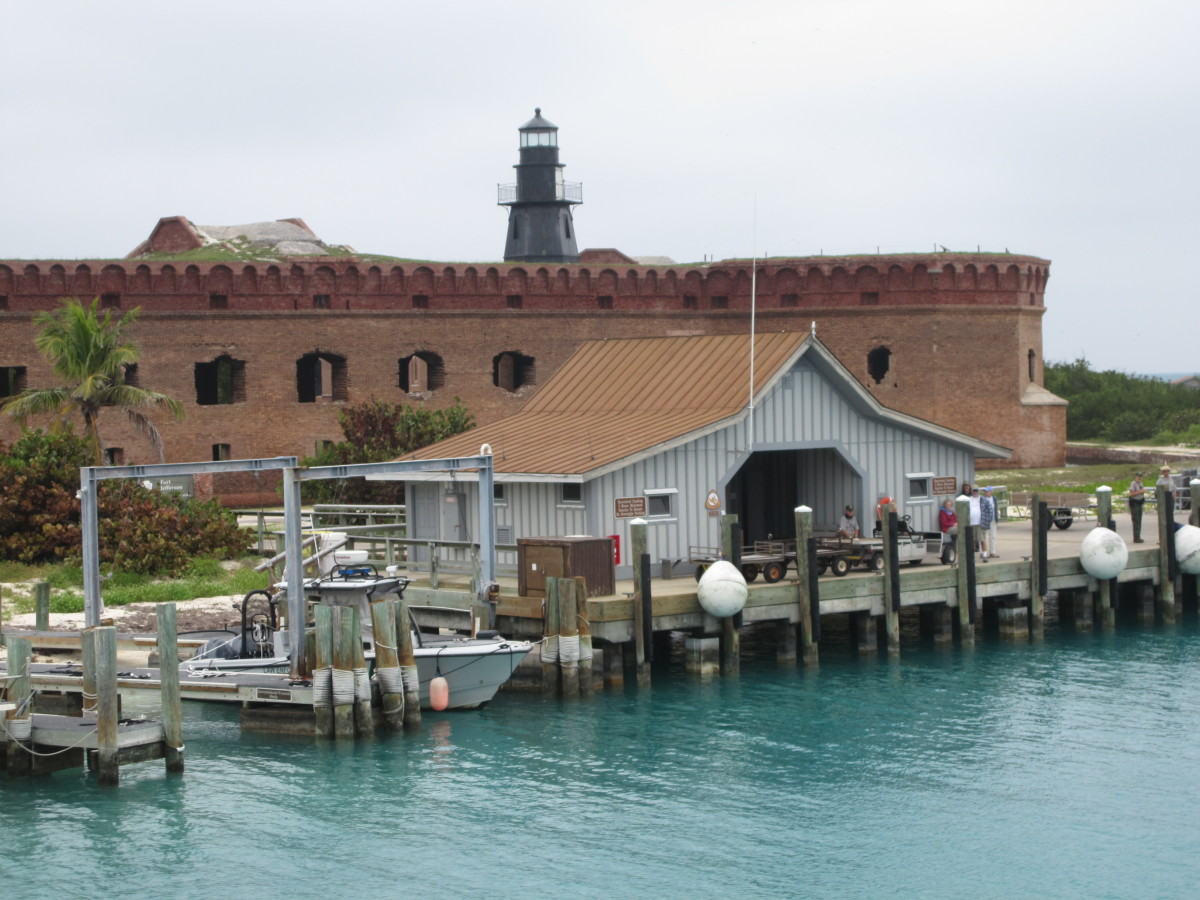 Arriving at the dock at Garden Key