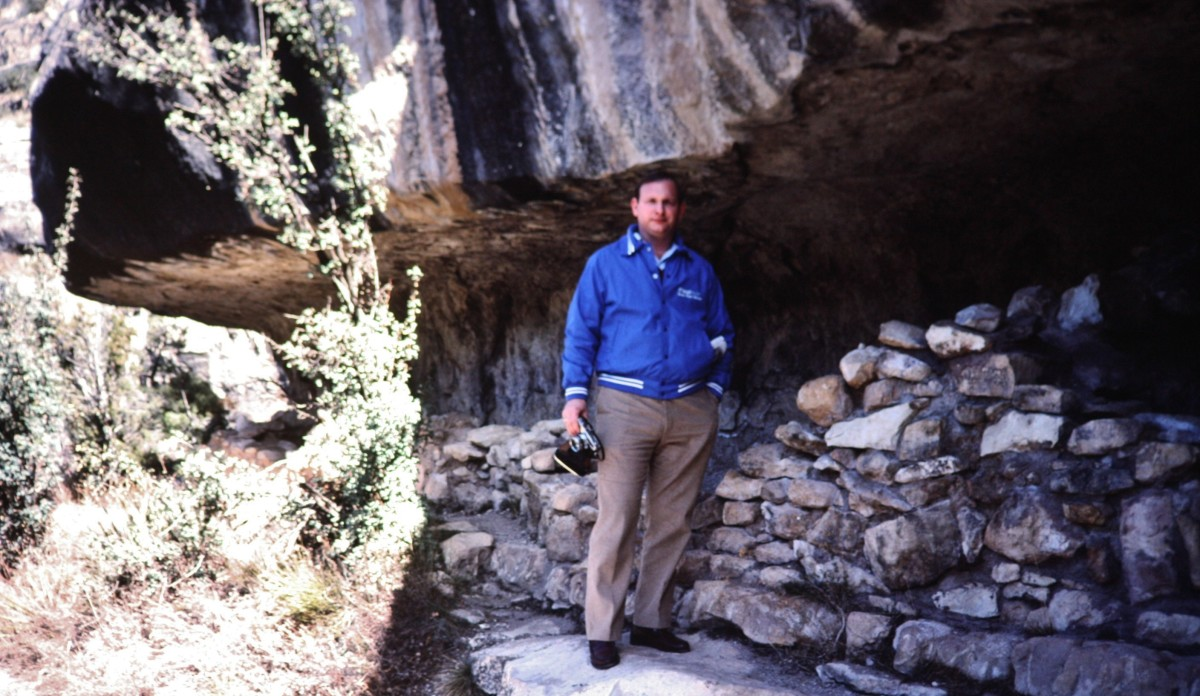 My hubby at the Walnut Canyon cliff dwellings