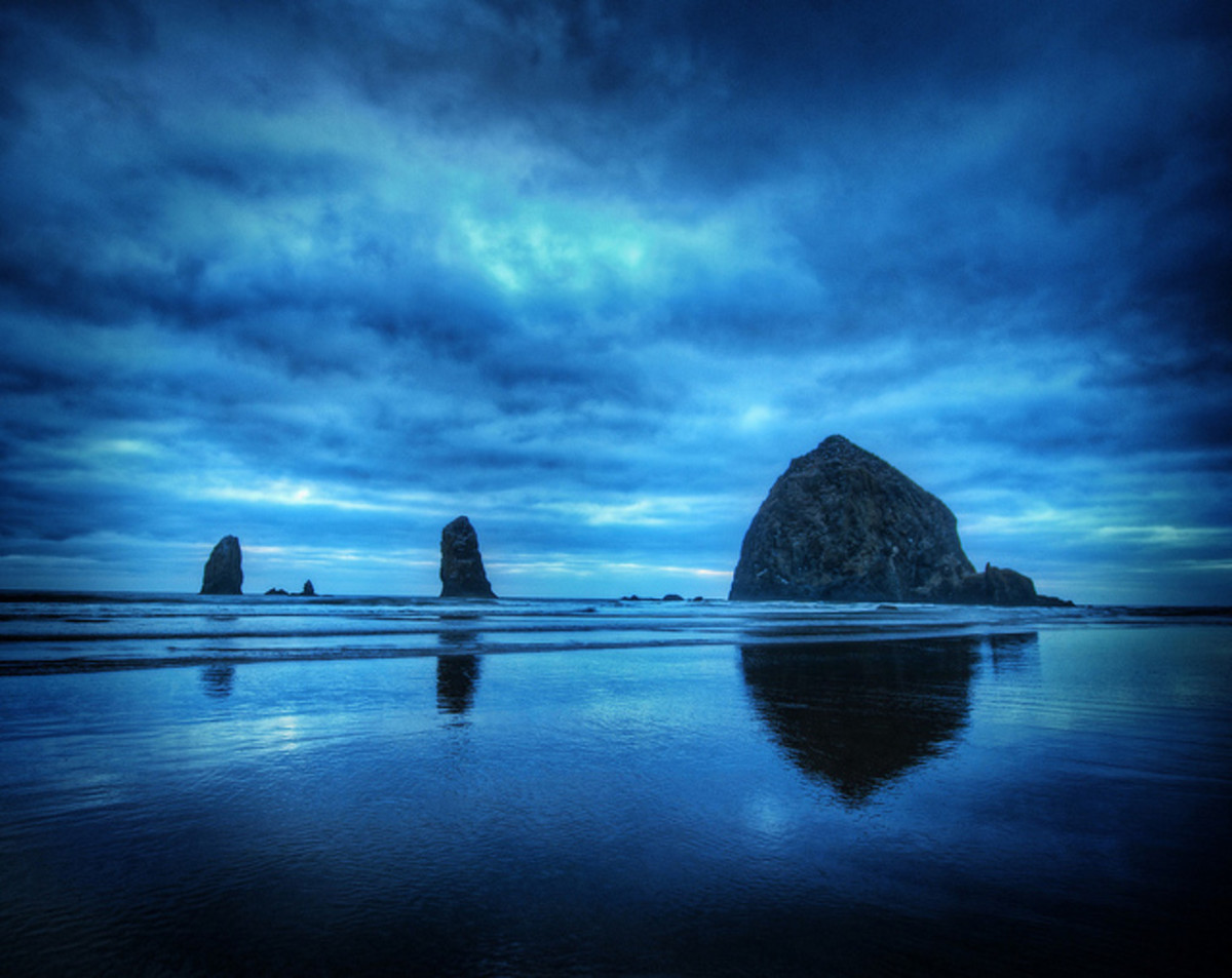 Haystack Rock in Canon Beach, Oregon