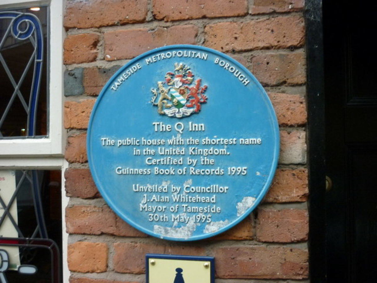 A Plaque at the Q Inn, Stalybridge