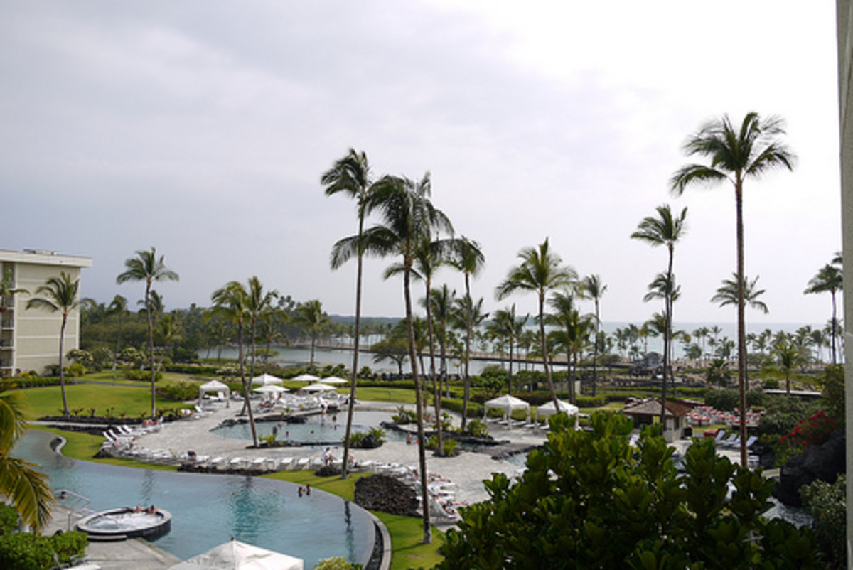 The Marriott is newly renovated and is located on Anaehoomalu Bay, one of the best places to snorkel.