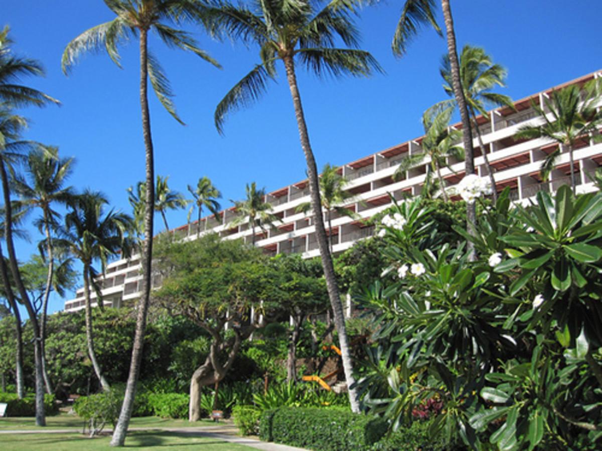 The Manua Kea Beach Hotel has one of the best beaches on the island.