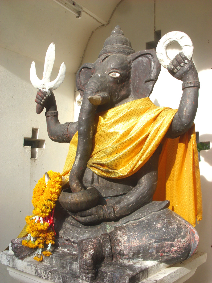 Ganesh, a Hindu deity recognised in Buddhism