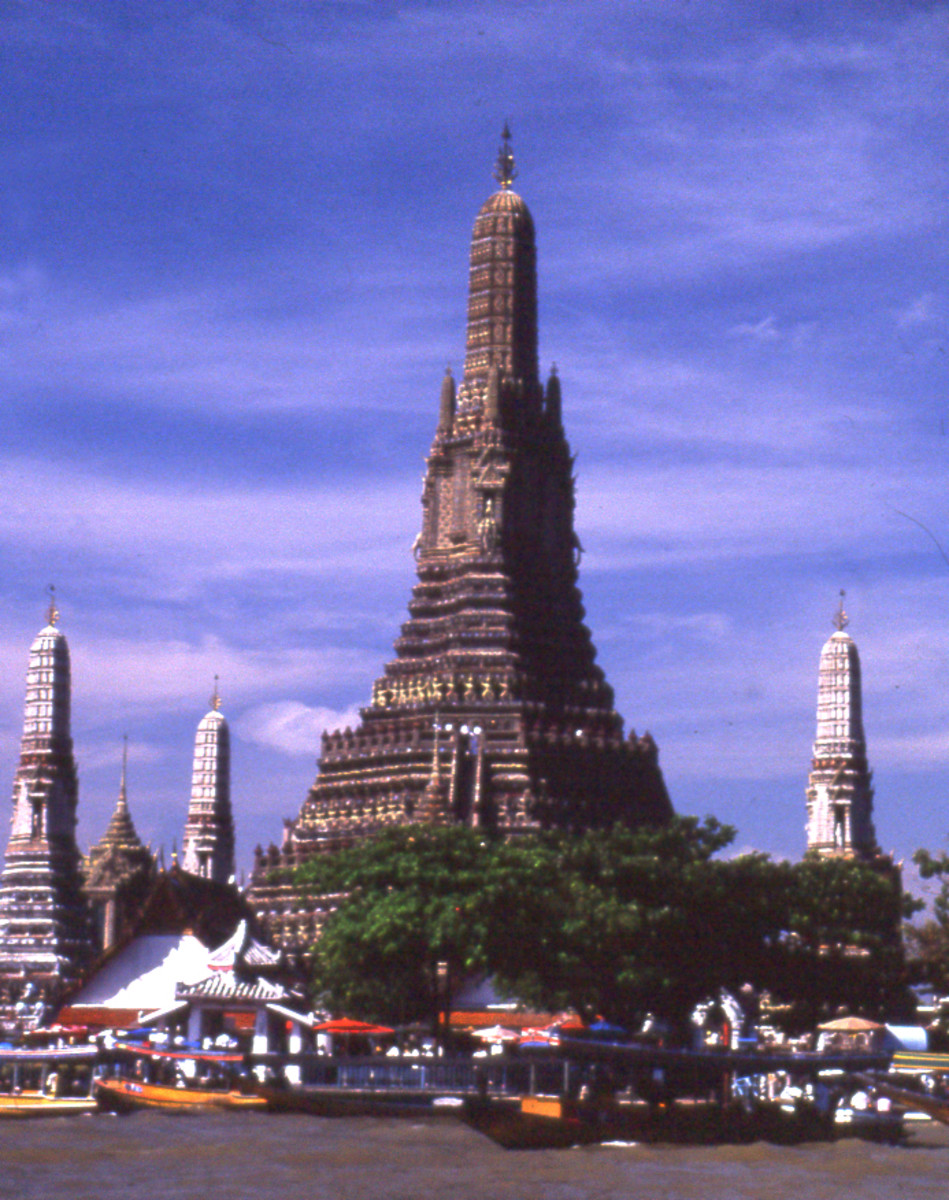 Wat Arun - Temple of the Dawn, Bangkok, Thailand. Khmer style architecture