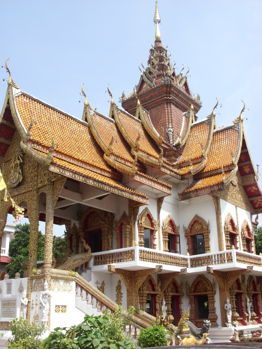 Bupparam Buddhist Temple in Chiang Mai