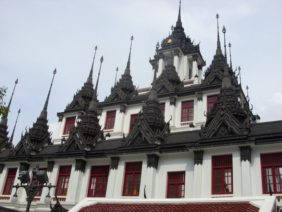 Loha Prasat, multi tiered structure in Bangkok, also known as The Metal Palace.
