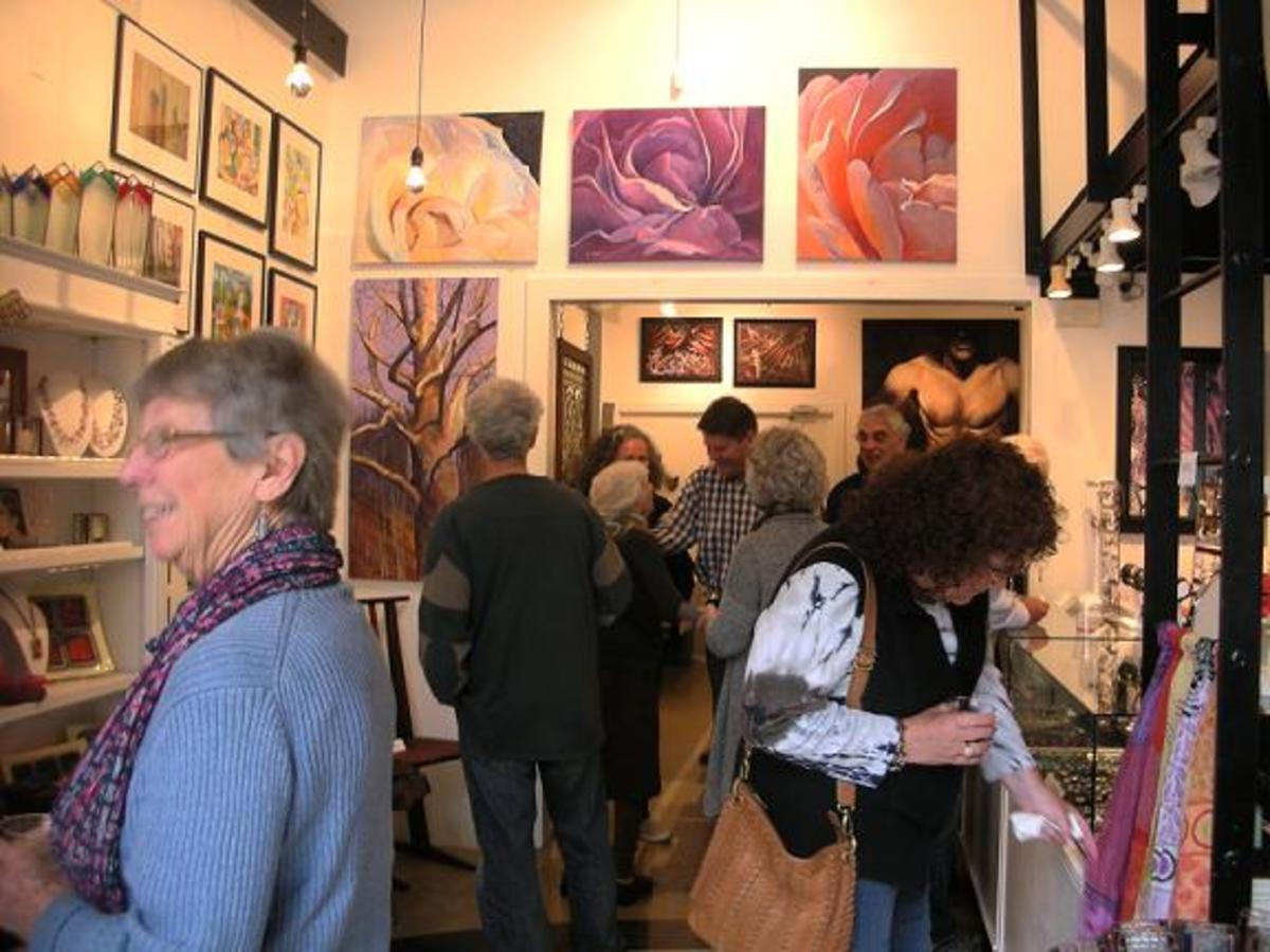 A recent gallery opening