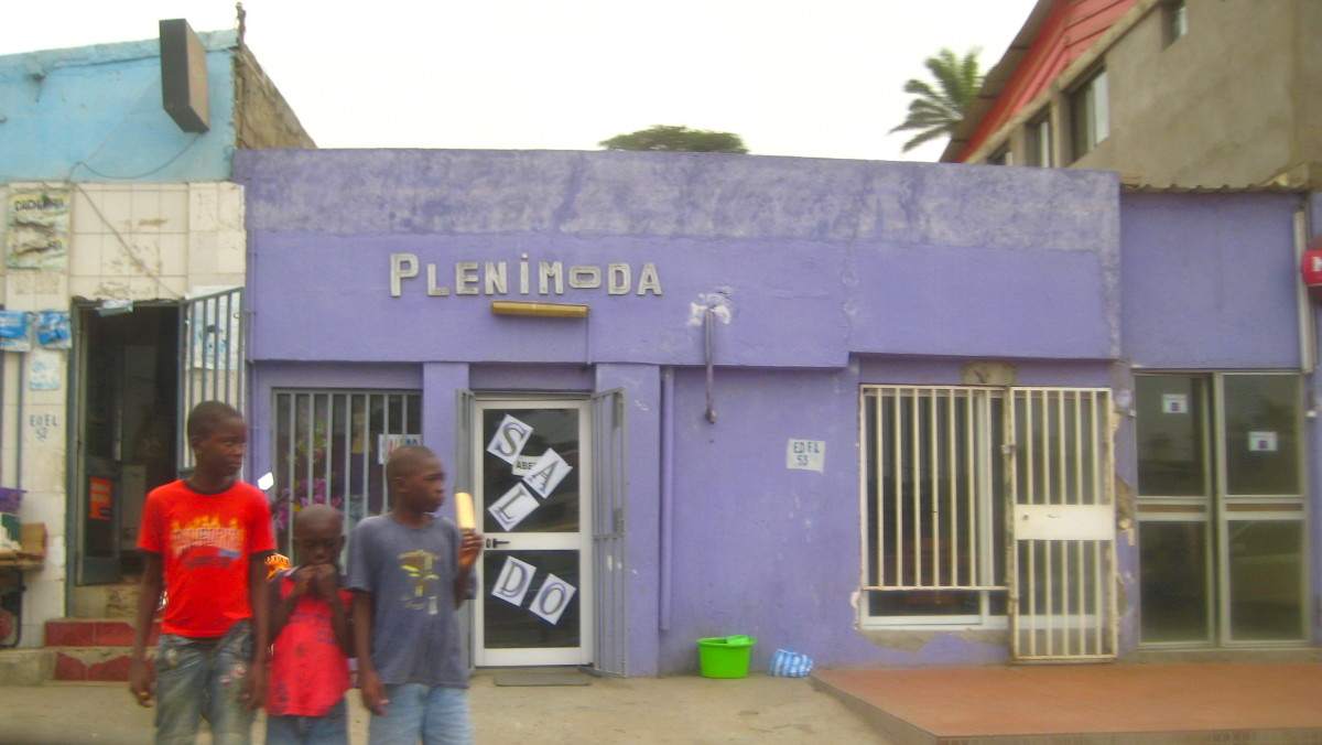 Cute kids on the streets of Luanda