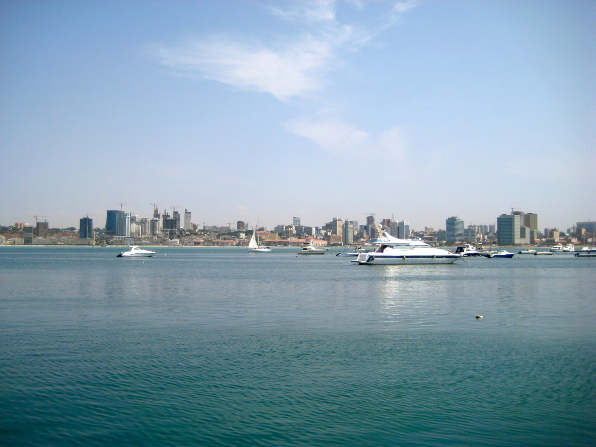 The stunning harbor at Luanda