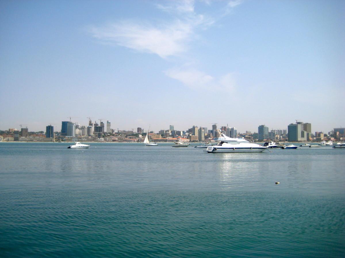 The stunning harbor at Luanda