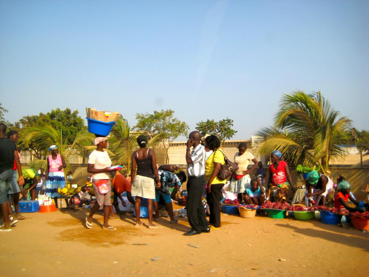 A street market in Luanda