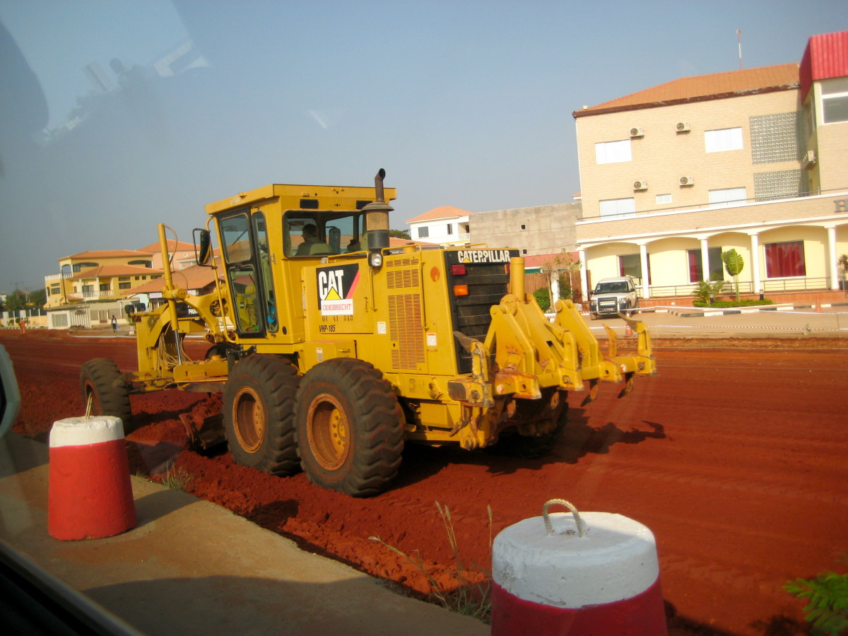 Roads are being paved and widened in Luanda