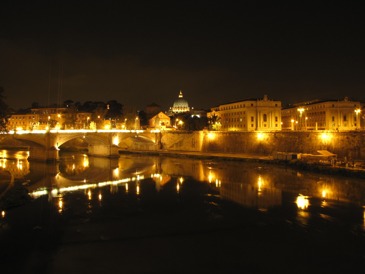 St. Peter's Basilica from across the Tiber River