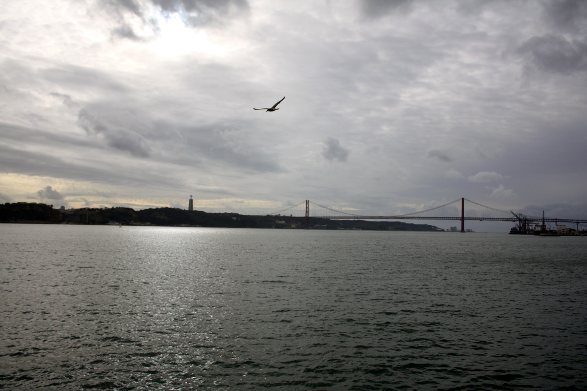 View of Almada from the ferry