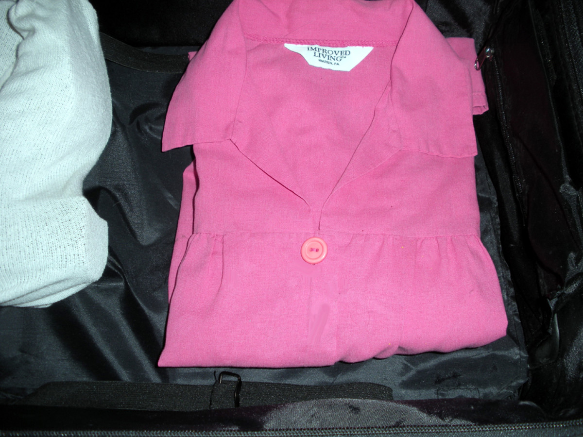 At every fold, there will be a crease or wrinkle when the clothes are unpacked