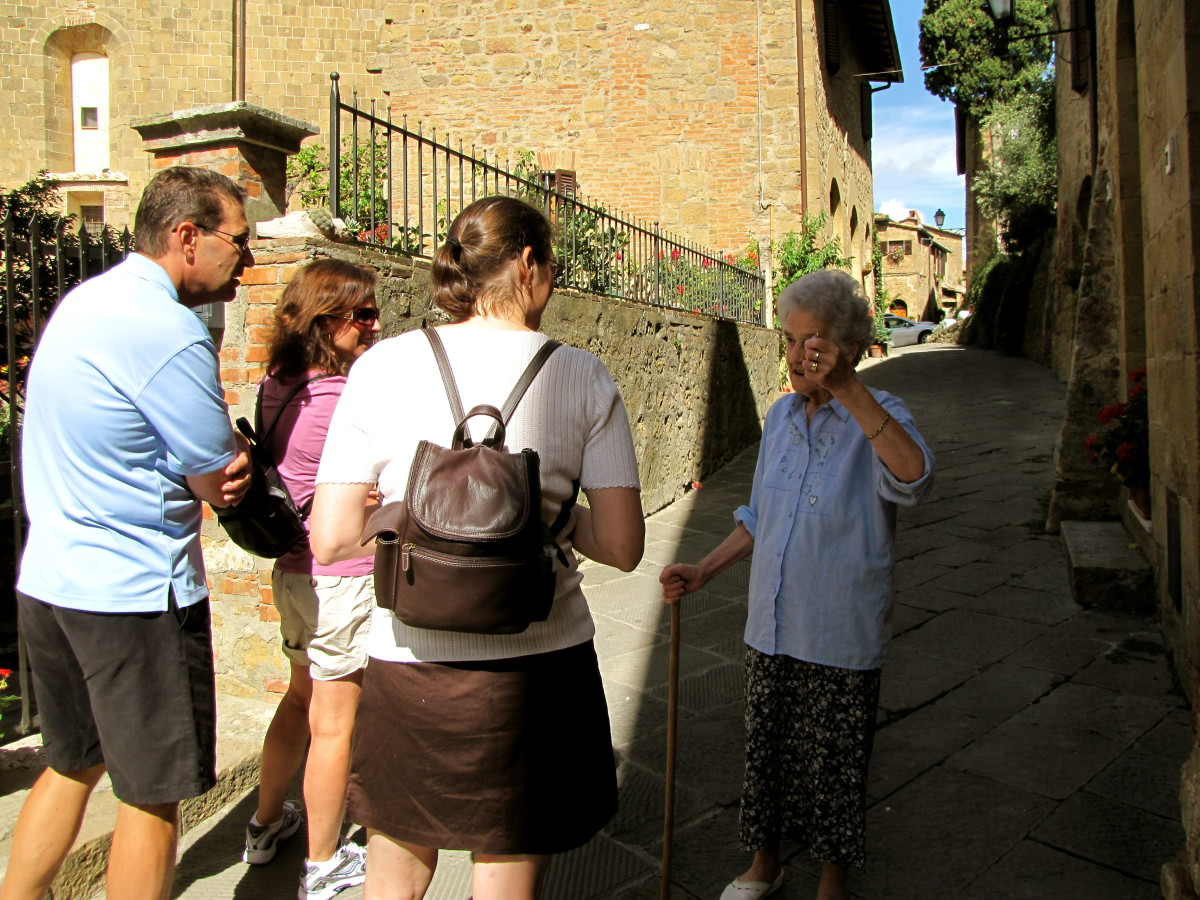 Knowing a little Italian goes a long way in conversing with the locals.