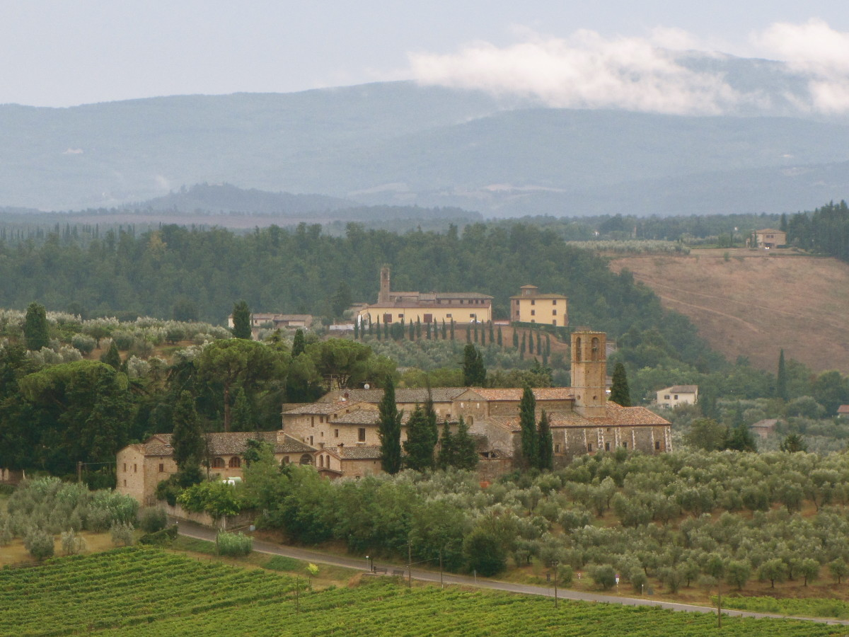 View of the Tuscan countryside from San Gimignano.