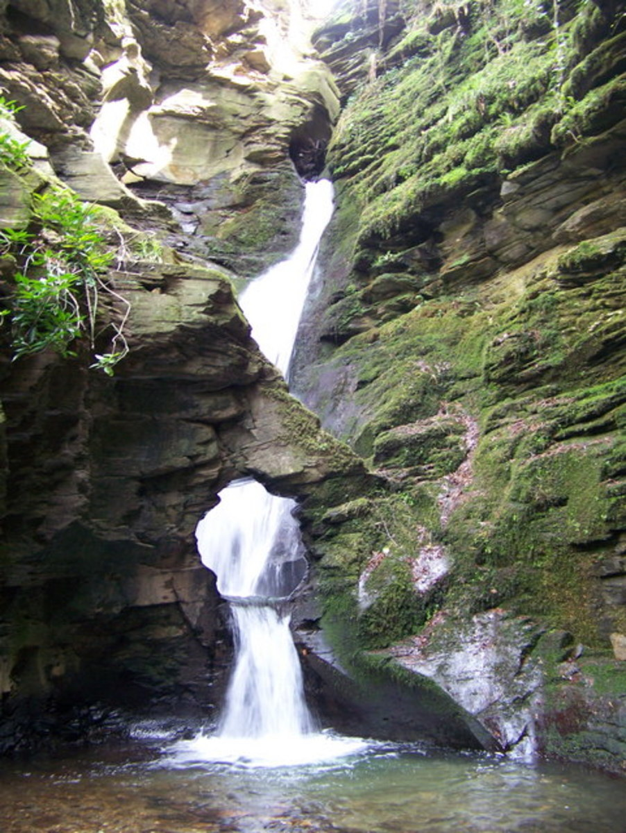 St. Nectan's Kieve is a small but stunning river cascade that marks the focal point of the glen.