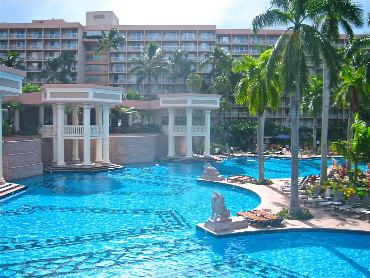 Kauai Marriott Hotel pool in Hawaii.
