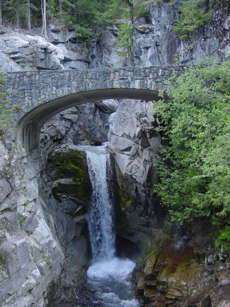 Christine Falls and Bridge, Mount Rainier, NP