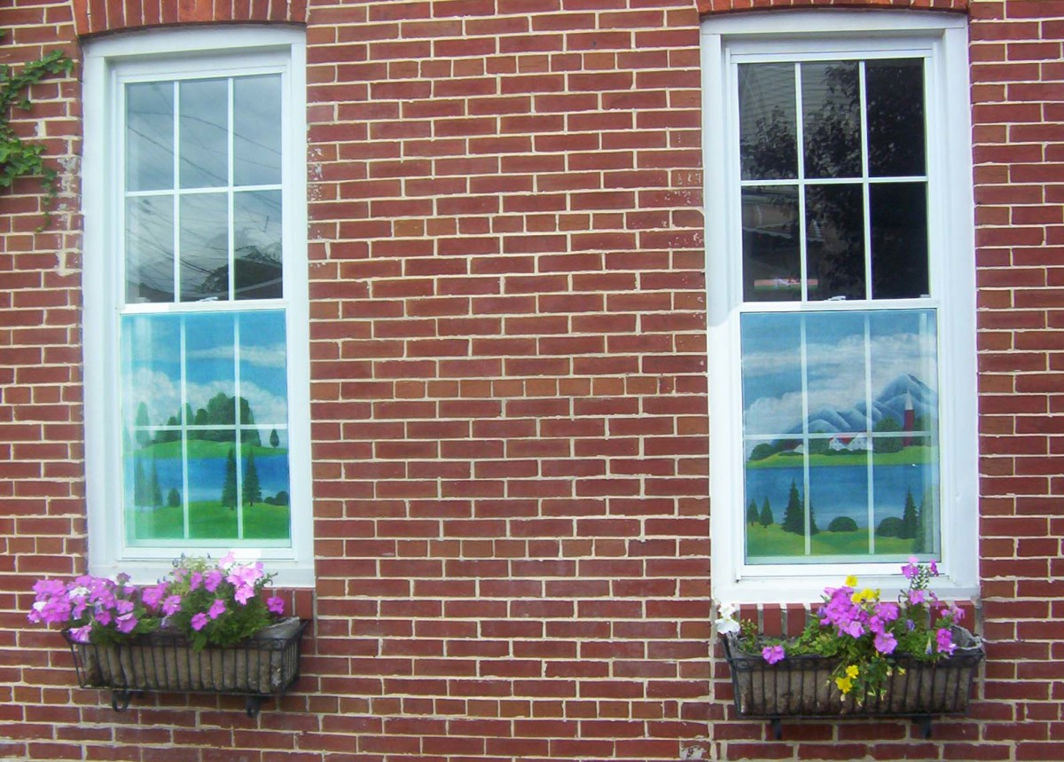 Painted screens helped homeowners to see out while passerbys couldn't see in.