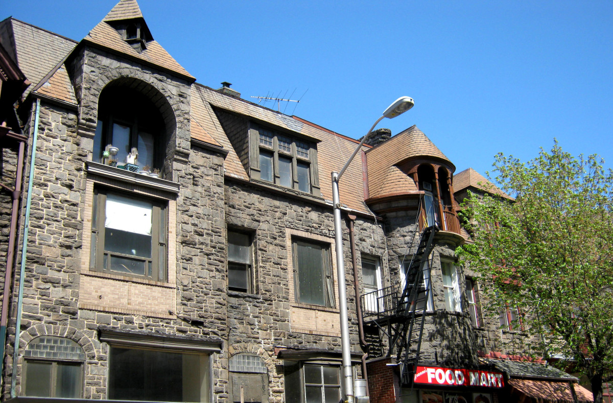 Look at the varied roof line, windows, and facade of these beautiful homes.