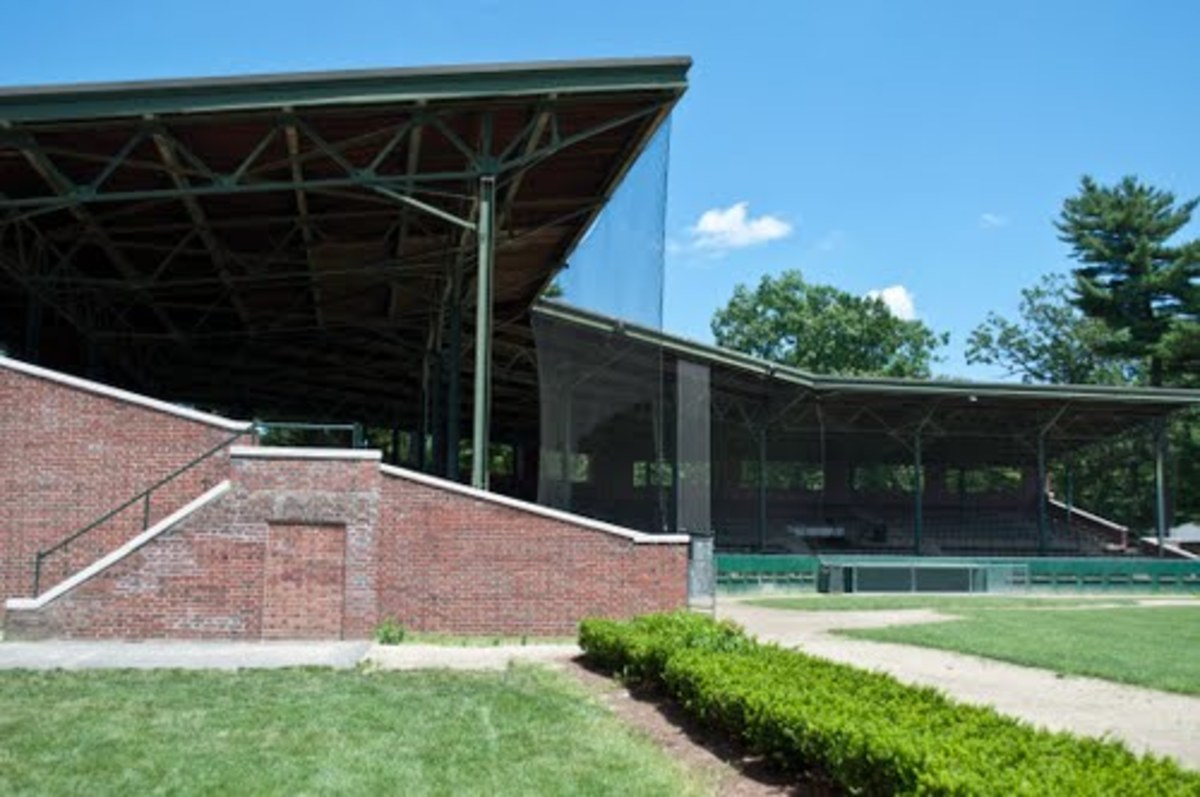 Walker Grandstand Baseball Field, Forest Park.