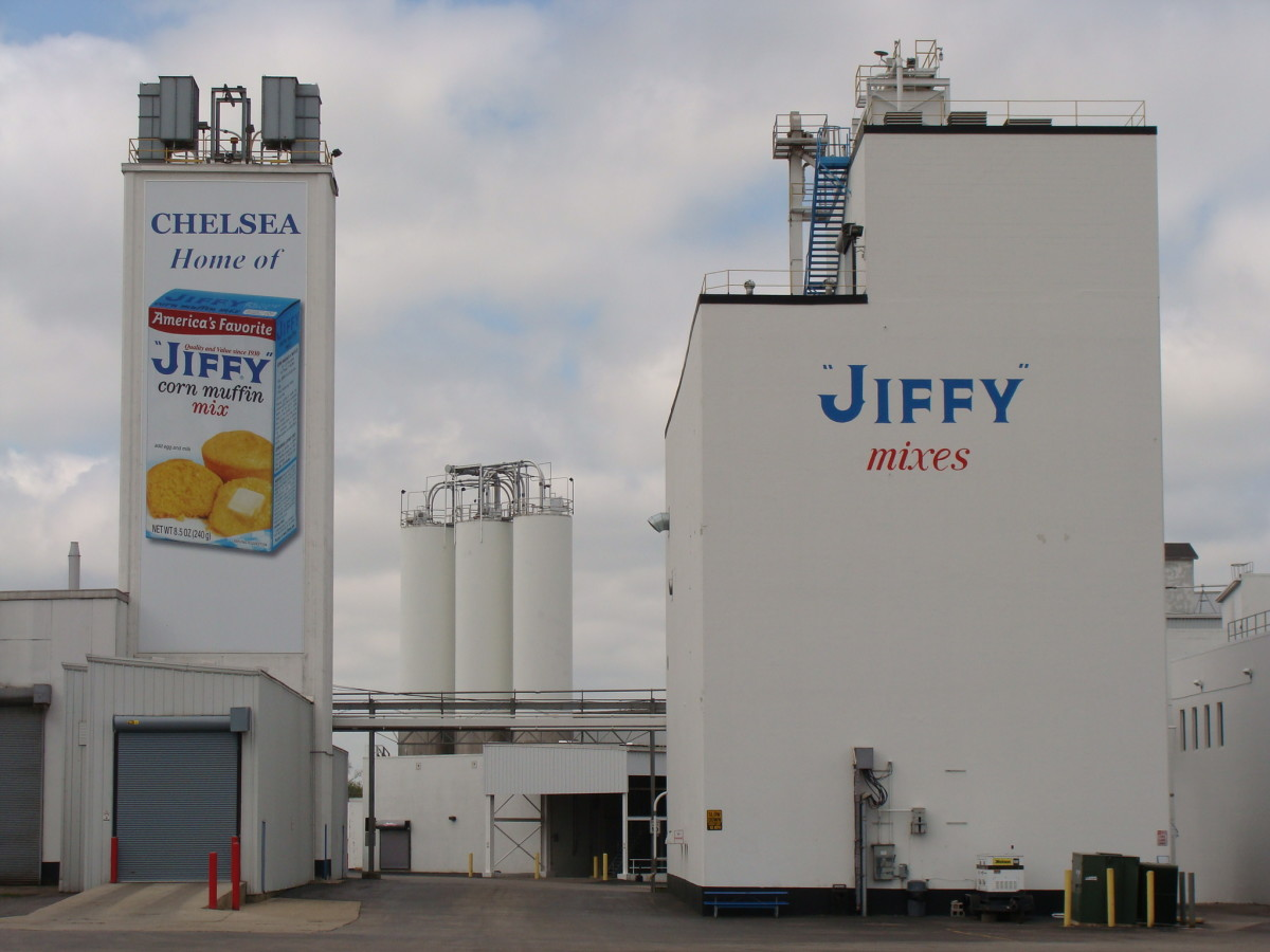 Jiffy Mix factory in Chelsea, MI.