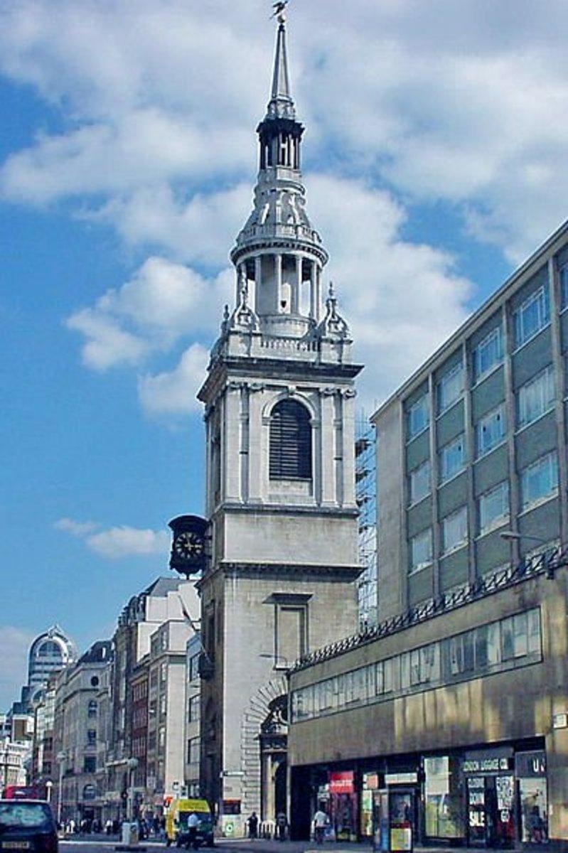 St Mary-le-Bow Church, Cheapside, London.