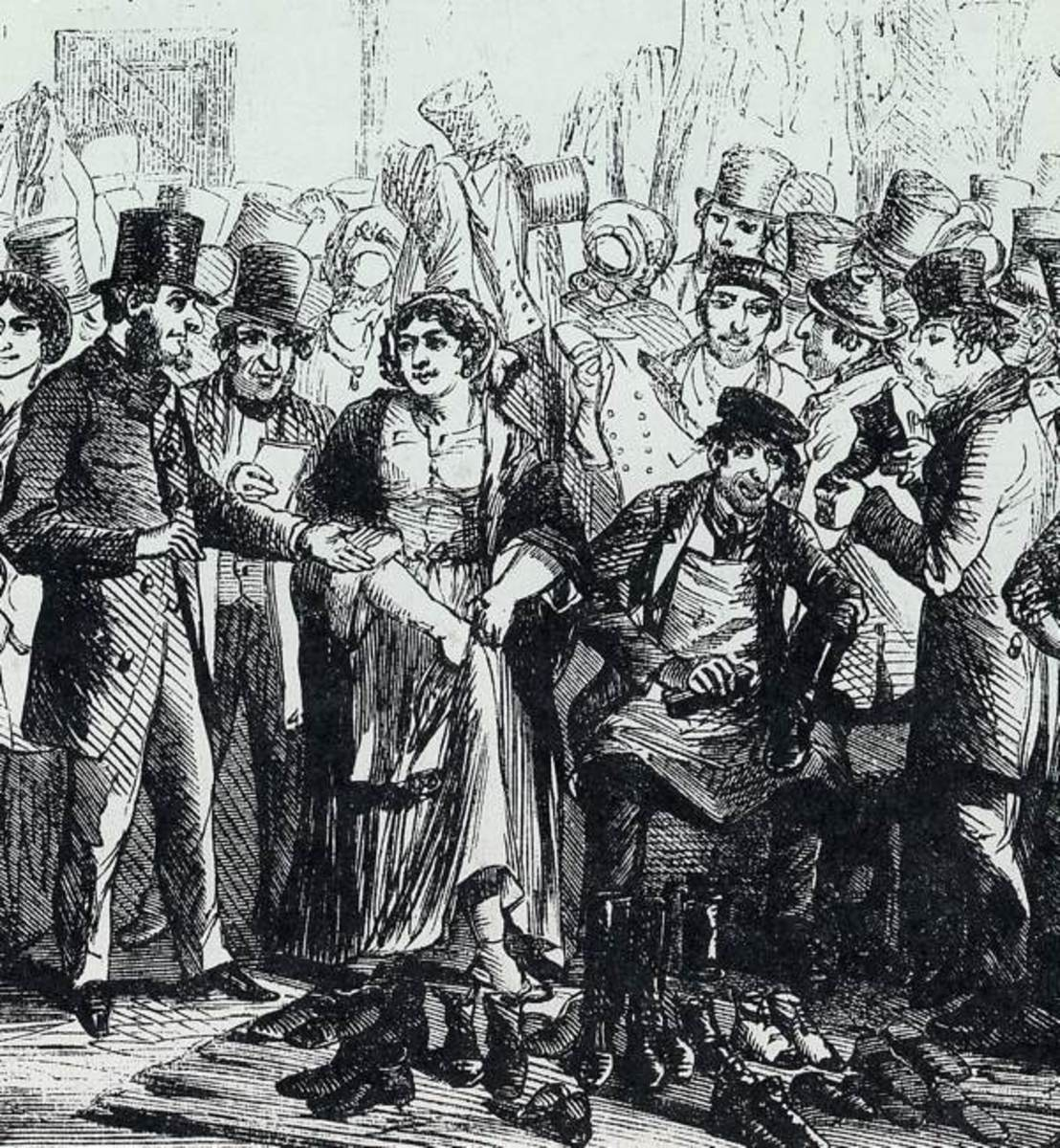 Houndsditch Rag Fair in Victorian London.