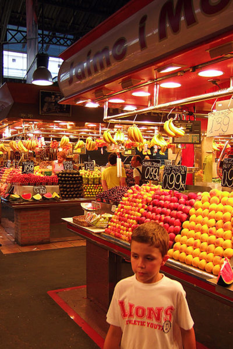 Fresh produce at Las Ramblas Market