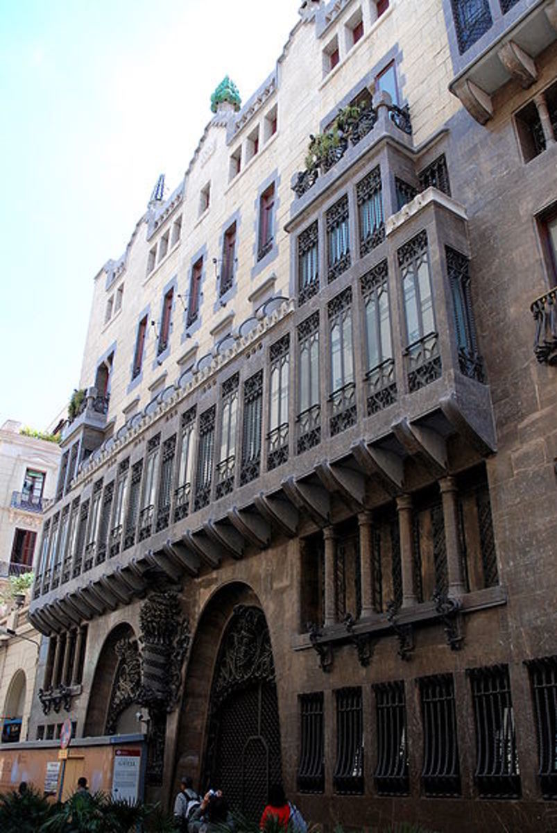 Palau Guell...a (1888) mansion designed by the famous architect Gaudi which houses a music theatre.