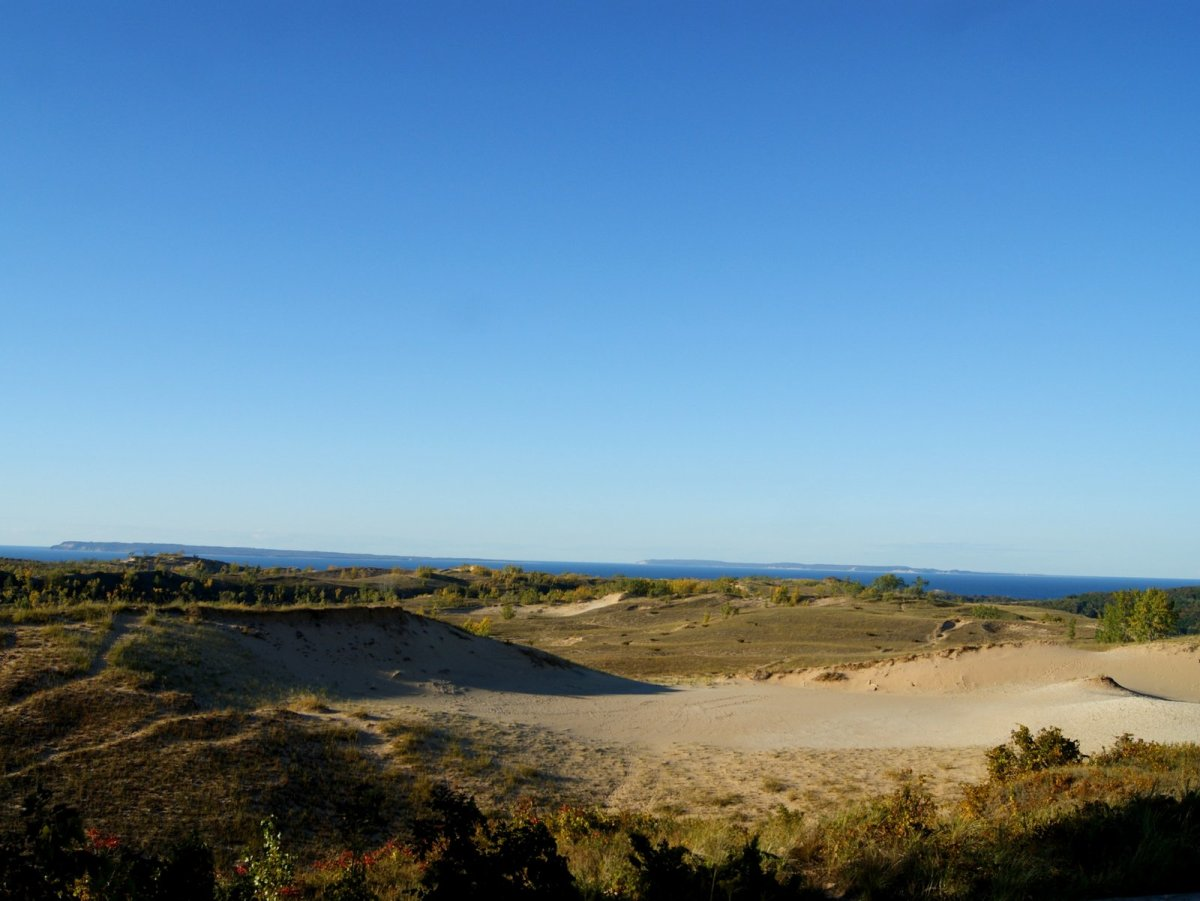 The Native American legend says that the dunes were once a sleeping mother bear and her two cubs.