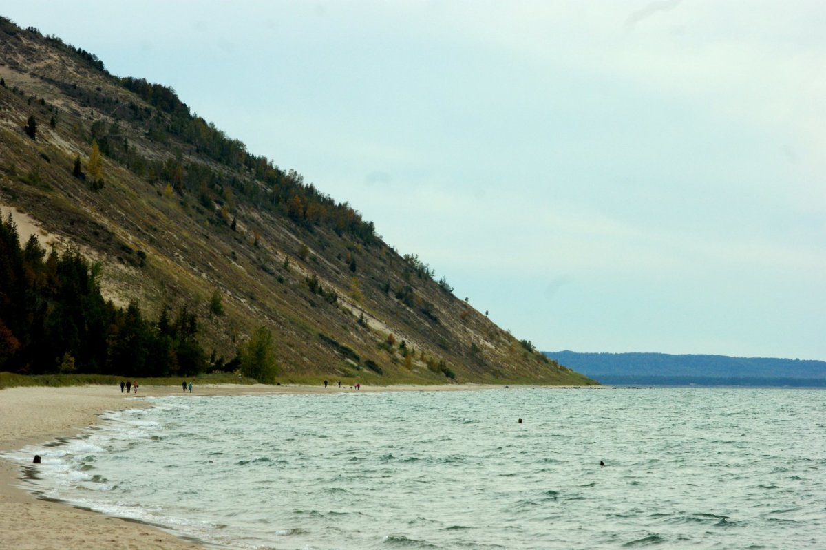 The Empire Bluffs from Empire Beach looking south.